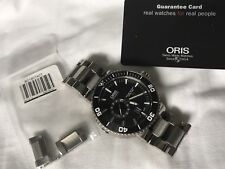 Oris Aquis Titan Small Second date Automatic Watch Lightly Worn, never opened.