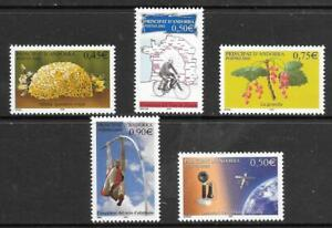 ANDORRA (Fr) - 5 x MNH Singles - 2003 Issues