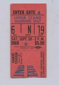 GRAMBLING VS MORGAN STATE AT YANKEE STADIUM TICKET STUB - 9/20/1969