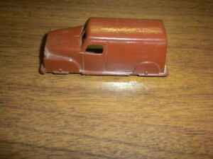 Lot #5 brown truck van MARX related O SCALE playset vintage 1950+ mini toy