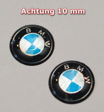 2 x BMW Emblem Epoxy/Silicon10 mm Logo Schlüsselemblem Achtung 10mm