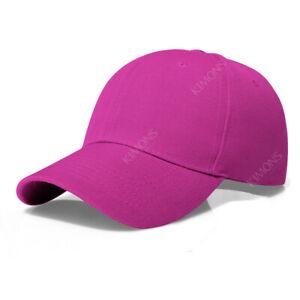 Plain Baseball Cap Solid Blank Curved Visor Hat Ball Army Men Women loop Wool VC