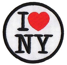 Patch I Love Ny New York Thermoadhesive Big Apple Embroidered Hotfix