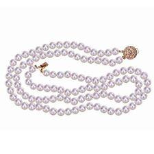 Halsketten und Anhänger im Collier-Stil aus Gelbgold mit Perlen für Damen
