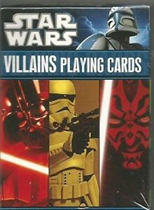 Star Wars Villains Playing Cards NEW