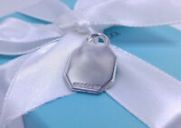 Tiffany & Co Octagon Charm Pendant Necklace Sterling Silver 925