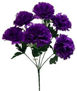 "6 x 3"" Carnations Artificial Silk Flowers Wedding Bouquet Crafts Decor Fake Faux"