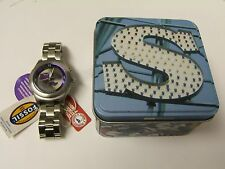 RARE MEN'S FOSSIL LI2246 COLLECTIBLE KALEIDO KANSAS STATE WILDCAT LOGO WATCH NWT