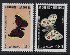 ANDORRA (FRENCH) :1976 Nature Protection(Butterflies) SG F277-8 MNH