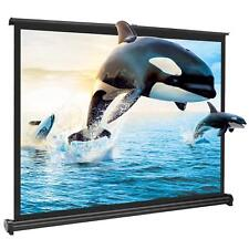 Portable 50 Inch 4:3 HD Pull Down Projector Projection Screen HomeCinema Theater