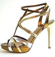 ELEGANT New Ivanka Trump Women's Shoes Sandals Gold  Genuine Leather Size 9.5 M