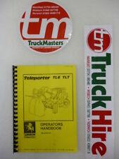 Sanderson Teleporter Forklift TL6-TL7 Operators Manual (PHOTOCOPY)