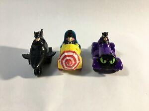 1991 DC Comics McDonalds Vintage Batman Toys Catwoman Penguin
