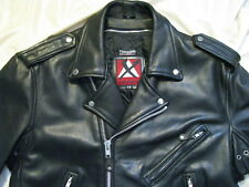 Heavy Xpert Leather Motorcycle Jacket Biker Classic Brando Perfecto Cafe XL 46
