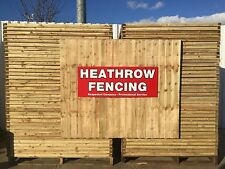 ***6 x 6ft Closeboard Fencing Featheredge Fully Framed panels***