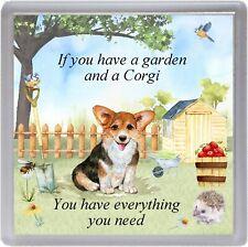 """Corgi Dog Coaster """"If you have a garden ...."""" Novelty Gift by Starprint"""