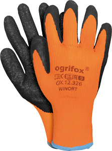 6 Paar Winterhandschuhe Latex Gr. 9-11 Thermohandschuhe Arbeitshandschuhe
