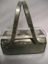 Vintage Lucite Rialto NY Purse Evening Box Purses Bags Marbled Pearl Gray Bag