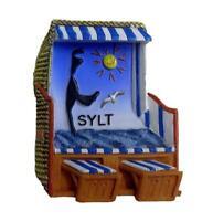 Sylt Magnet Strandkorb Insel Germany Premium Souvenir Polyresin NEU