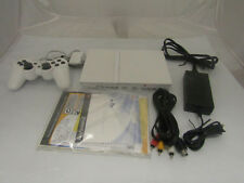 Sony PlayStation 2 White Tested Video Game Console Bundled W/ Cables