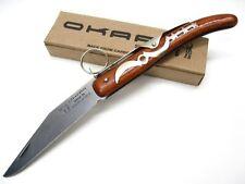 OKAPI Wood Handle KEYRING Straight LOCK Blade Folding Pocket Knife KO9070 New!