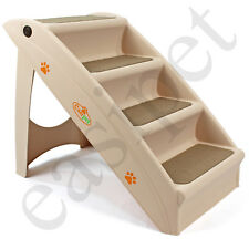 Dog Pet Puppy Plastic Foldable Stairs Folding Ramp Access Steps 2nds 7284