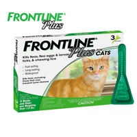 NEW Frontline Plus for Cats 1.5 pounds and over Flea and Tick Treatment 3 doses