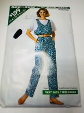 Butterick 4190, Misses'/Misses' Petite, Jumpsuit, Top. Size XS-XL  Uncut