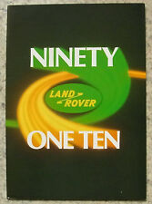 LAND ROVER NINETY & ONE TEN Sales Brochure 1972 #335E STATION WAGON Pick Up