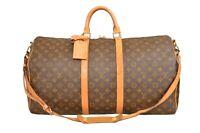 Louis Vuitton Monogram Keepall 55 Bandouliere Travel Bag Strap M41414 - YG00737