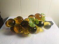 VTG Retro MOD 60s Lucite Grape Cluster Driftwood Amber/Green
