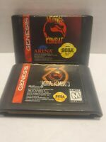 Mortal Kombat and Mortal Kombat 3  (Sega Genesis) Authentic - Cartridges Only