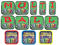 WHEEL OF FORTUNE Pinball Machine Target Cushioned Decals