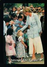 Princess Diana with Children, Queen of the People - Trading Card, Not a Postcard