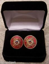 French Cuff Links Coast Guard Emblem with Gift Box NEW