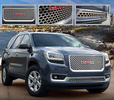 2PC STAINLESS STEEL Z GRILLE GRILL E&G FITS 2013 2014 2015 2016 GMC ACADIA