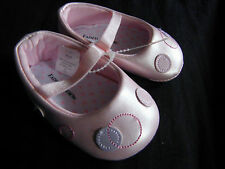 Faded Glory Infant BABY Girls PINK Crib SHOES Size 2