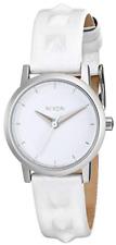 Nixon Womens Kenzi White Leather Studded Strap Watch 0452