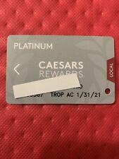 Caesars Rewards Platinum Card Expires 01/2021 Tropicana Ac©�2020