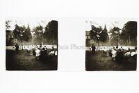 A Giardino Foto Amateur Placca Da Lente Stereo Ca 1920
