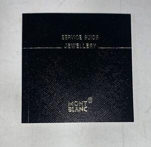 Montblanc Jewellery Service Guide Warranty Booklet & Certificate.  Blank