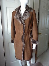 Cole Haan Brown lamb Fur shearling coat Size:XS $2595 NWT