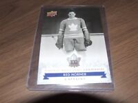 17/18 UD TORONTO MAPLE LEAFS CENTENNIAL CAPTAINS #102 RED HORNER