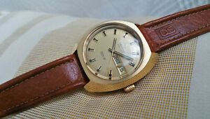 Vintage NOS Certina DS-2 Certiday automatic watch, gold plated, day-date, runs