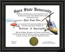 Gyrocopter Lover's Doctorate Diploma / Degree Custom made & Designed for you