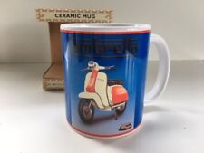 Red Lambretta Scooter Classic Retro Art Ceramic Mug in Gift Box