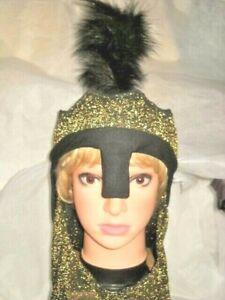 SALE HALLOWEEN HAT ONLY BLACK & GOLD GLITTER NET Fantasy World Tail Top Costume