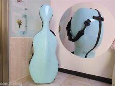 Light BLUE carbon fiber composite cello case 4/4 #6986
