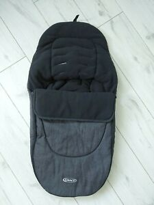 Graco Cosy Toes grey & black baby universal buggy foot-muff