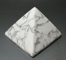 Howlite Crystal Pyramid - Crystal Healing ~ Metaphysical ~ 40mm
